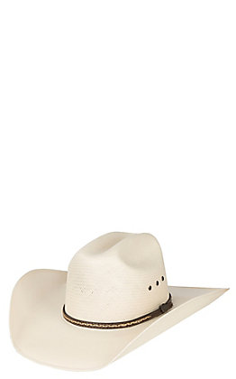 Cavender's Cowboy Collection 10X Long Oval Ivory Eyelet Straw Hat
