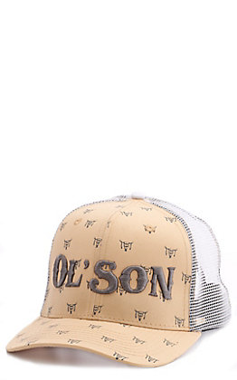 Rodeo Time Pale Yellow Ol' Son Skull Print Cap