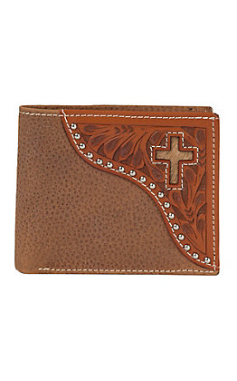 Ranger Belt Company Tan Soft Leather Inlay Cross Bi-fold Wallet