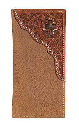 Ranger Belt Company Tan Soft Leather Inlay Cross Wallet