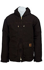 Carhartt Men's Dark Brown Sandstone Jackson Sherpa Lined Coat