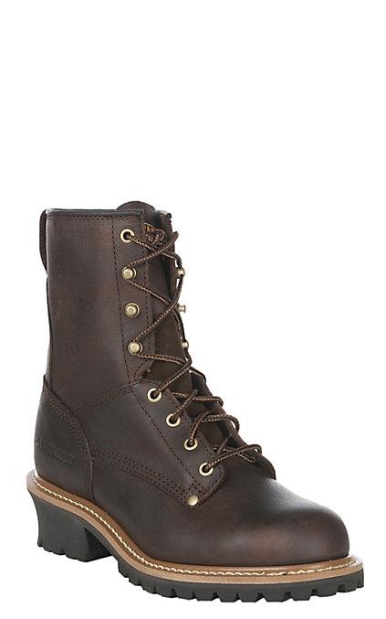 a0582e5b150 Carolina Men's 8 in. Briar Steel Toe Logger Work Boot