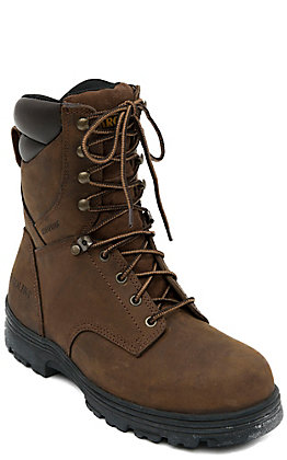 Carolina Copper Crazy Horse 8in Lace Up Steel Toe Waterproof Work Boot