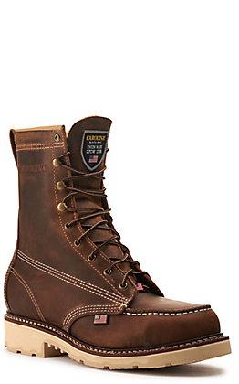 Carolina Men's Folklore Leather Dual-Density Iron Sole Round Steel Toe Work Boots