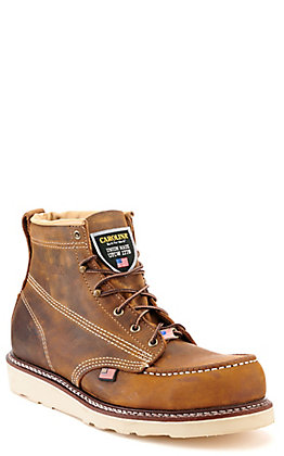 Carolina Men's Old Town Folklore Brown Moc Steel Toe Wedge Work Boot