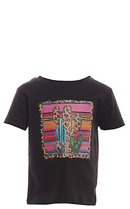 Lucky & Blessed Toddlers Coral Serape Cactus Short Sleeve T-Shirt