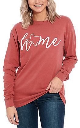 Women's Pink Deep in the Heart of Texas Long Sleeve T-Shirt