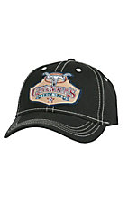 Cavender's Solid Black Canvas with Patch Logo Cap CAV001BLK
