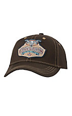 Cavender's Solid Chocolate Canvas with Patch Logo Cap CAV001CHOC