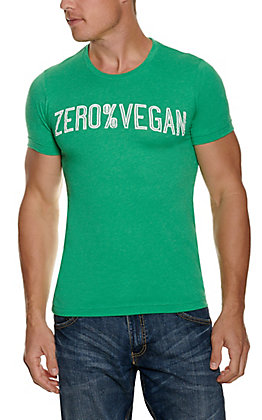 C.C. Creations Men's Green Zero% Vegan T-shirt