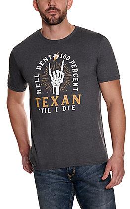 Men's Heather Grey Graphic Short Sleeve T-Shirt