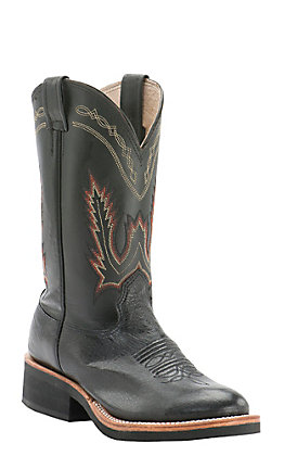 Cavender's Men's Black Smooth Ostrich Round Toe Crepe Sole Western Boots