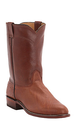 Cavender's Men's Peanut Brittle Smooth Ostrich Exotic Roper Boots