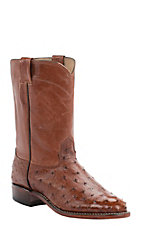 Cavender's Men's Peanut Brittle Full Quill Ostrich Exotic Roper Boots