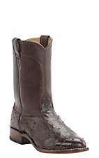 Cavender's Men's Kango Tobacco Full Quill Ostrich Exotic Roper Boots
