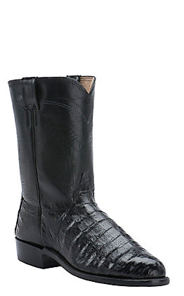 Cavender's Men's Black Caiman Belly Exotic Roper Boots