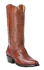 Cavender's Men's Peanut Brittle Lizard Exotic Traditional Toe Western Boots