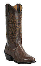 Cavender's Men's Chocolate Lizard Exotic Traditional Toe Western Boots