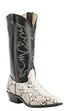 Cavender's Men's Natural Python Exotic Traditional Toe Western Boots