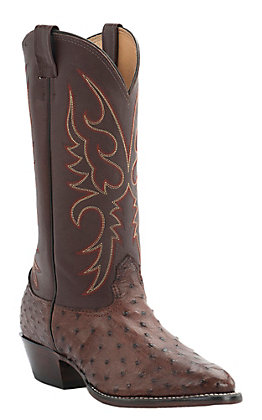 Cavender's Men's Kango Tobacco Full Quill Ostrich Exotic Traditional Toe Western Boots
