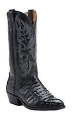Cavender's Men's Black Caiman Belly Exotic Traditional Toe Western Boots