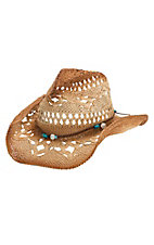 Dorfman Pacific Ombre Straw with Beaded Band Hat