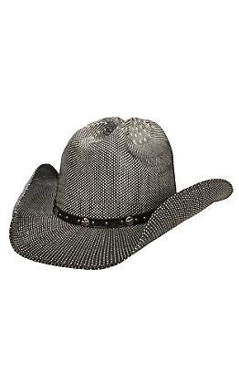 Scala by Dorfman Pacific Black & Tan Thunderbird Bangora Cowboy Hat L/XL
