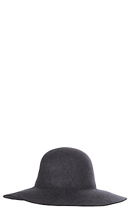 Scala Women's Charcoal Floppy Wool Hat