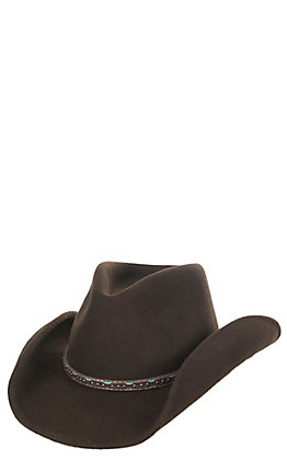 Scala Men's Chocolate Crush Tycoon Brown Wool Hat - S/M