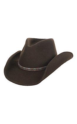 Scala Men's Chocolate Crush Tycoon Brown Wool Hat - L/XL