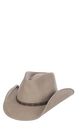 Scala Men's Stone Crush Tycoon Brown Wool Hat - S/M