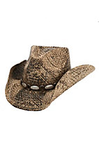 Dorfman Pacific Toasted Straw with Scalloped Concho Band Fashion Cowboy Hat