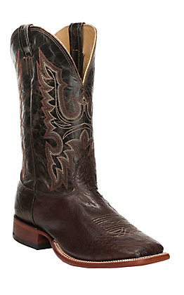Cavender's Men's Kango Tobacco Smooth Ostrich Square Toe Exotic Western Boots