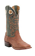 Cavender's Men's Aztec Twisted Bull Hide Double Welt Square Toe Western Boots