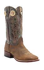 Cavender's Men's Distressed Bison with Vintage Medley Top Double Welt Square Toe Western Boots
