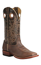 Cavender's Men's Dark Brown Rowdy Double Welt Square Toe Western Boots