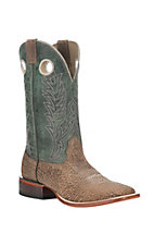 Cavender's Men's Distressed Brown and Sage Square Toe Western Boot