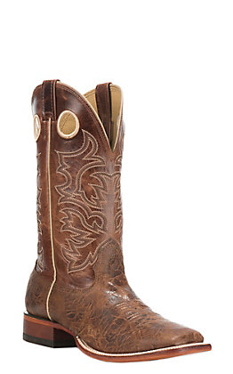 Cavender's Men's Antiqued Cognac Square Toe Western Boot