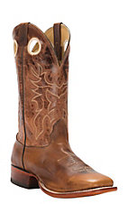 Cavender's Men's Cognac Brown Double Welt Square Toe Western Boots