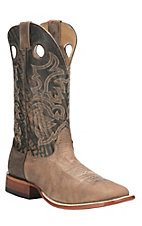 Cavender's Men's Desert Sand with Rugged Tan Upper Western Square Toe Boots