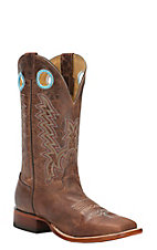 Cavender's Men's Mesquite Brown Double Welt Square Toe Western Boots