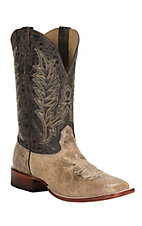 Cavender's Men's Antique Tan and Chocolate Square Toe Western Boot