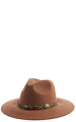 Scala Pecan Tycoon Concho Western Hat