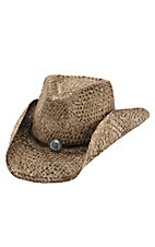 Dorfman Pacific Toasted Straw with Silver & Turquoise Concho Band Fashion Cowboy Hat