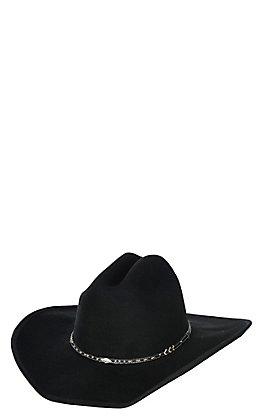 Scala by Dorfman Pacific Black Crushable Wool Cowboy Fashion Hat - Small / Medium