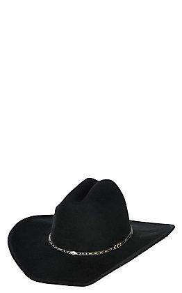 Scala by Dorfman Pacific Black Crushable Wool Cowboy Fashion Hat - Large / XL