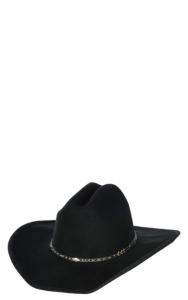 Cowboy Twister BLACK ~100/% Wool FELT HAT~ Western G Strait Rancher