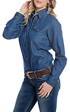 Cowgirl Legend Women's Denim Long Sleeve Snap Western Shirt