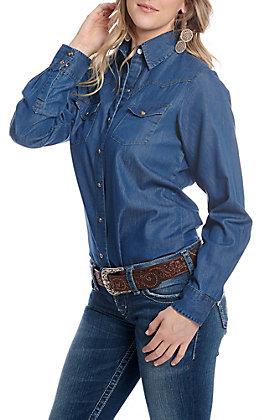 Cowgirl Legend Women's Denim Long Sleeve Snap Western Shirt