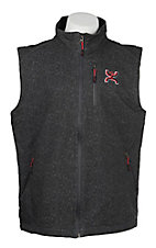 HOOey Men's Dark Grey Bonded w/ Red Bevel Logo Vest